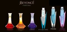 Beyonce Perfumes Just some of the different Beyonce perfumes that you can buy!