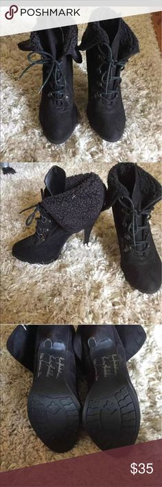 Kardashian heels Like new. Kardashian Kollection Shoes Ankle Boots & Booties