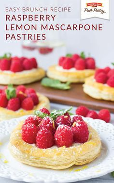These Raspberry Lemon Marscapone Pastries are a spring dessert that can be added to every brunch menu. The best part about this sweet breakfast treat is that it uses Pepperidge Farm® Puff Pastry Sheets. View the full easy recipe from Becca, of Fork in the Kitchen, to learn more.