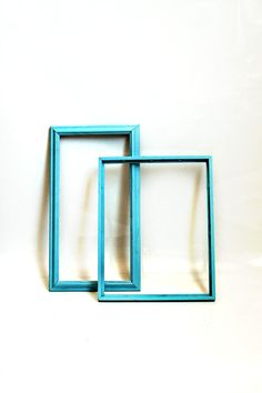 Blue up cycled frames by dvintag on Etsy, $9.00