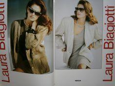 Cindy Crawford biagiotti ads | CINDY CRAWFORD rare ads LAURA BIAGIOTTI Kaprisky * Harper's Bazaar ...