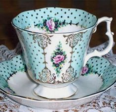 "Royal Albert Pierrette series ""Turquoise"" 1960s-1970s"