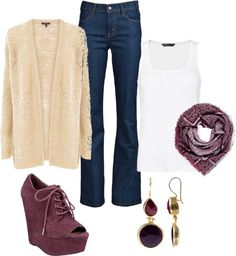 """""""burgandy and cream"""" by dianacnyc on Polyvore"""