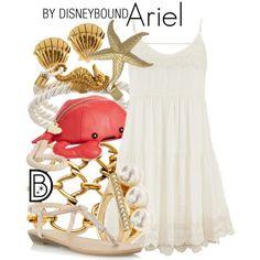 Ariel by leslieakay on Polyvore featuring polyvore, fashion, style, maurices, Dorothy Perkins, Betsey Johnson, Aqua, Oscar de la Renta, Gorjana and disney