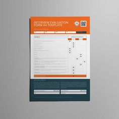 training evaluation form a4 template cmyk print ready clean
