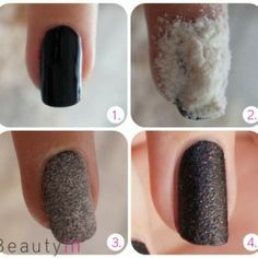 Nail texture with flour!