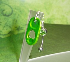 Green Monster Tab  Belly Button Ring by joolrylane on Etsy, $25.00