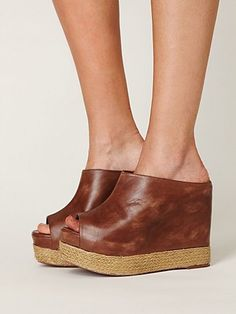 $128 Kelsey Mule Wedge  http://www.freepeople.com/shoes-platforms/kelsey-mule-wedge/