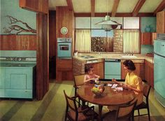 1960 Hotpoint Appliances Calendar.....this how I want my 1962 kitchen to look like. LOVE!!!