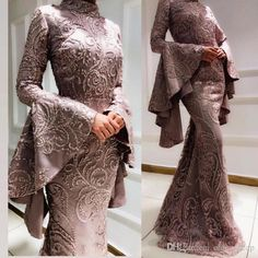 2019 Arabic Muslim Mermaid Sexy Evening Dresses Embroidery Beaded Long Sleeves Prom Dresses Satin Formal Party Bridesmaid Pageant Gowns ZJ55 Pictures Of Prom Dresses Plus Size Prom From Chic_cheap, $227.14| DHgate.Com