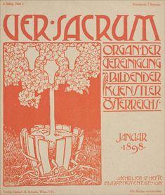 archived copies of ver sacrum, the Austrian experimental Art Nouveau magazine.