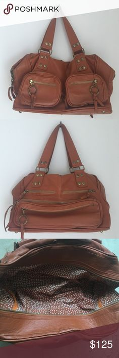 Leather Orange Caramel Purse Leather Orange Caramel Purse. 100% leather. Purchased in Brazil. Great quality. Bags