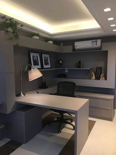 Home Office Furniture Design, Male Office Decor, Home Room Design, Office Interior Design, Office Interiors, House Design, Furniture Layout, Apartment Furniture, Modern Interiors