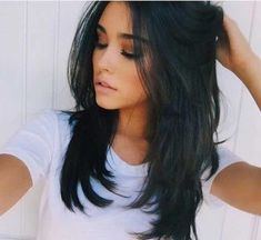 35 Stunning Long Hairstyles for Present-day long haircuts look emotionless and somewhat untidy. These are performed on the base of long shag hair styles, adding layering and surface ., Long Hairstyles hair cuts 35 Stunning Long Hairstyles for 2019 Long Shag Hairstyles, Trending Hairstyles, Straight Hairstyles, Layered Haircuts For Long Hair, Layered Hairstyles, Layered Long Hair, Long Hair Haircuts, Black Hairstyles, Goth Hairstyles