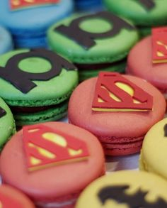 """Superhero Macarons"" baked by Fancy Flavors #BakeTown"