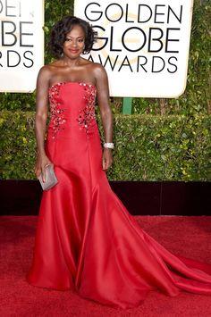 Pin for Later: Seht alle Stars auf dem roten Teppich bei den Golden Globes! Viola Davis