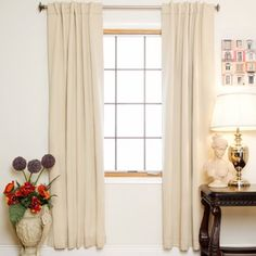 Red Barrel Studio Visconti Solid Blackout Thermal Rod Pocket Curtain Panels Size per Panel: W x L, Curtain Color: Beige Colorful Curtains, White Curtains, Drapes Curtains, Bedroom Curtains, Insulated Curtains, Thermal Curtains, Window Coverings, Window Treatments, Classic Curtains
