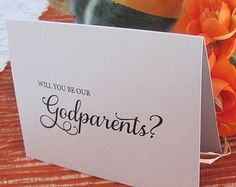 Will you be our Godparents? For the twins. Find this card on Etsy.