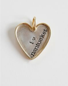 Image of Gold Rimmed Heart nantucketbythesea