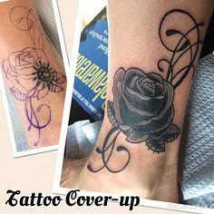 Black Rose Tattoo Cover-up Black Rose Tattoo Coverup, Rose Tattoo Cover Up, Black Rose Tattoos, Rosary Bead Tattoo, Rosary Beads, Divorce Papers, Rosaries