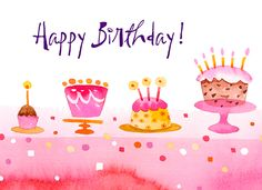 Electronic Birthday Cards For Free Birthday Wishes For Women, Birthday Greetings For Facebook, Happy Birthday Ecard, Birthday Wishes Greetings, Free Birthday Card, Birthday Clips, Belated Birthday, Kids Birthday Cards, Birthday Quotes