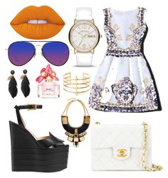 """""""Untitled #121"""" by toyapowell on Polyvore featuring Lime Crime, Gucci, Matthew Williamson, Chanel, Marc by Marc Jacobs, Marc Jacobs and BauXo"""