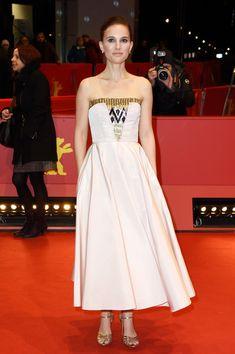 Look of the Day, February 10th: Natalie Portman's Tea-Length Dress   StyleBistro.com