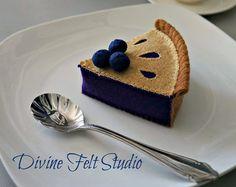 Felt Cherry Pie-Felt Food Pretend Play Tea by DivineFeltStudio