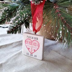 Christmas Sweater Heart Ornament by My Little Chickadee Creations