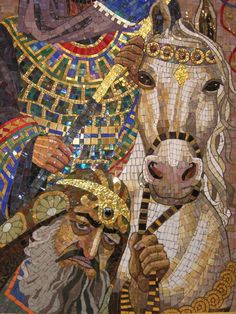 ❤❤❤❤ Copyrights unknown. Lilian Broca mosaic work.