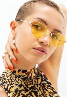 ROXY - YELLOW AND GOLD CAT EYE METAL FRAME SUNGLASSES Trending Sunglasses, Retro Sunglasses, Sunglasses Women, Festival Sunglasses, Vintage Festival, Sunglass Frames, Roxy, Cat Eye, Sunnies