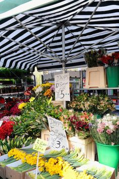 """""""I love the Columbia Road Flower Market in London. The variety of flowers is amazing and the old time atmosphere with all the vendors calling out what they have is great. Some terrific shops have also opened alongside it.""""   - Veranda.com"""