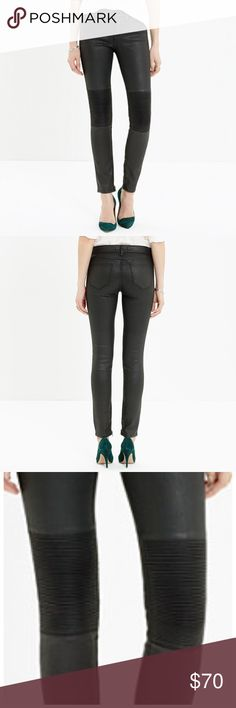 Madewell 'skinny skinny racetrack jeans' Madewell's popular 'skinny skinny' ultra skinny jeans in the moto racetrack style. Size 24. Worn a few times but in amazing condition. Medium rise, zippers at ankles. Sold out in stores and online. No trades, not selling elsewhere, no negotiating in comments section. Madewell Jeans Skinny