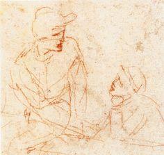 Étude de figures (détail) Windsor Castle, Royal library