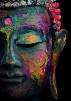 Buddha Wall Art, Buddha Painting, Buddha Buddha, Buddha Artwork, Buddha Canvas, Zen Painting, Peace Painting, Buddha Peace, Painting Doors