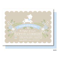 Lamb Baptism Invitation Blue Boys Little Lamb Christening Invitations Printed Or Printable