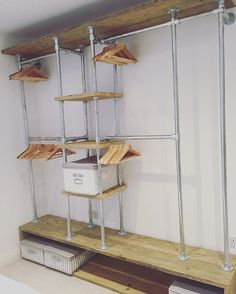 Tube and fittings storage unit for clothes, shoes, hats etc