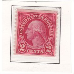 USA 1923 SG634 Coil 2c Red Mint Unmounted Stamp in Clear Mount Listing in the 1901 to 1940 Unused,United States,Stamps Category on eBid United Kingdom