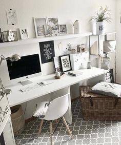 7 Beautiful Home Desk Ideas Make Comfortable (for Cozy Study)Cute Desk Decor Ideas for your dorm or office! Amazing home desk idea deskofficeideas homedecor homeofficeideas office on a budget modern french apartment design DIY rustic 601652831452357359