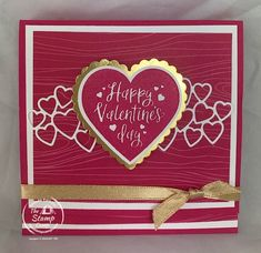 Valentine Day Cards, Happy Valentines Day, Gold Foil Paper, Treat Holder, Stamping Up Cards, Some Cards, Card Tags, Anniversary Cards, Making Ideas