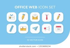 Stock Photo and Image Portfolio by Abbidzart Office Web, Business Icon, Line Icon, Vector Icons, Icon Set, Stock Photos, Profile, Image, User Profile