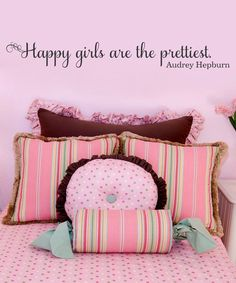 'Happy Girls' Wall Decal - love this!