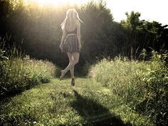 Girlfriend was doing some Irish dance in a meadow, I snapped a pic with my iPhone - results better than expected.
