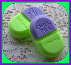 CHILL PILL SOAP Set - Lavender Mint Scent - Gag Gift - Doctor - Medical - Nurse - Mental Health - Social Worker - Stress - Relax - Herbal on Etsy, $4.50