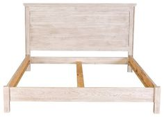 Reclaimed Style White Wash Bed Cal King King by KingstonKrafts