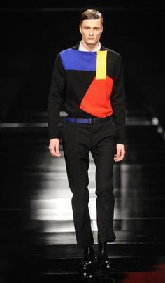 This fall keep it bold, sleek, and in primary colors Fashion Art, Fashion Outfits, Mondrian, Bauhaus, Find Image, Primary Colors, Guys, Sewing, Fall