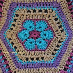 african flower top μπλουζάκι βελονάκιπλεκτο