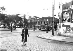 Praça Zacarias esquina com Westphalen em 1950.