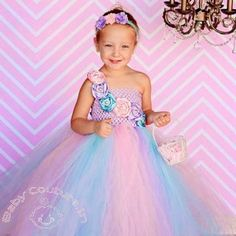 Lavender Pink Cocktail Princess #Tutu #Dress