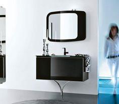 schwarze badmöbel hochglanz artesi